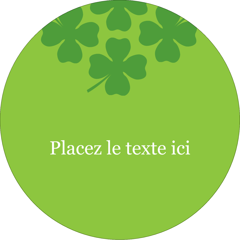 """3"""" Diameter Étiquettes rondes - Saint-Patrick"""