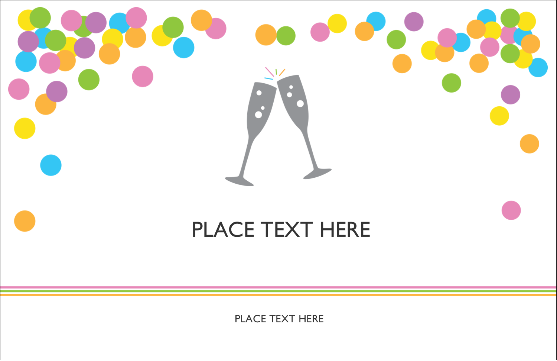 "5½"" x 8½"" Greeting Card - New Years"