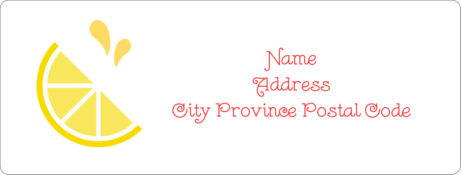 "1"" x 2⅝"" Address Label - Fruit Pink"