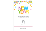 Add a celebratory feel to custom projects with pre-designed New Years templates.