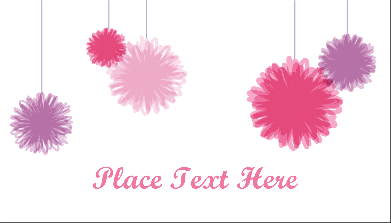 "2"" x 3½"" Business Card - Party Poms"
