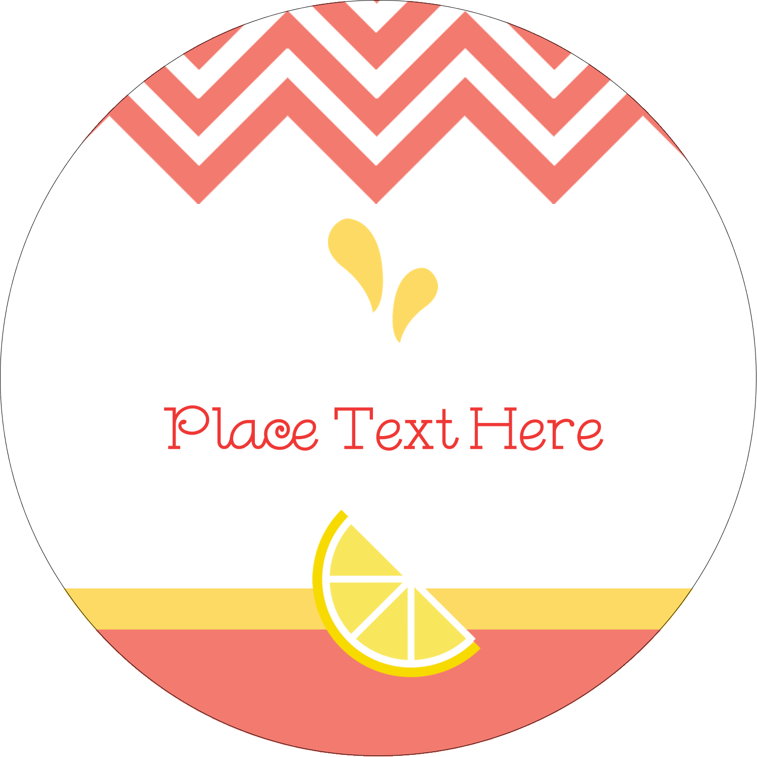"2"" Round Label - Fruit Pink"