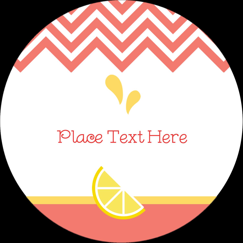 "2½"" Round Label - Fruit Pink"
