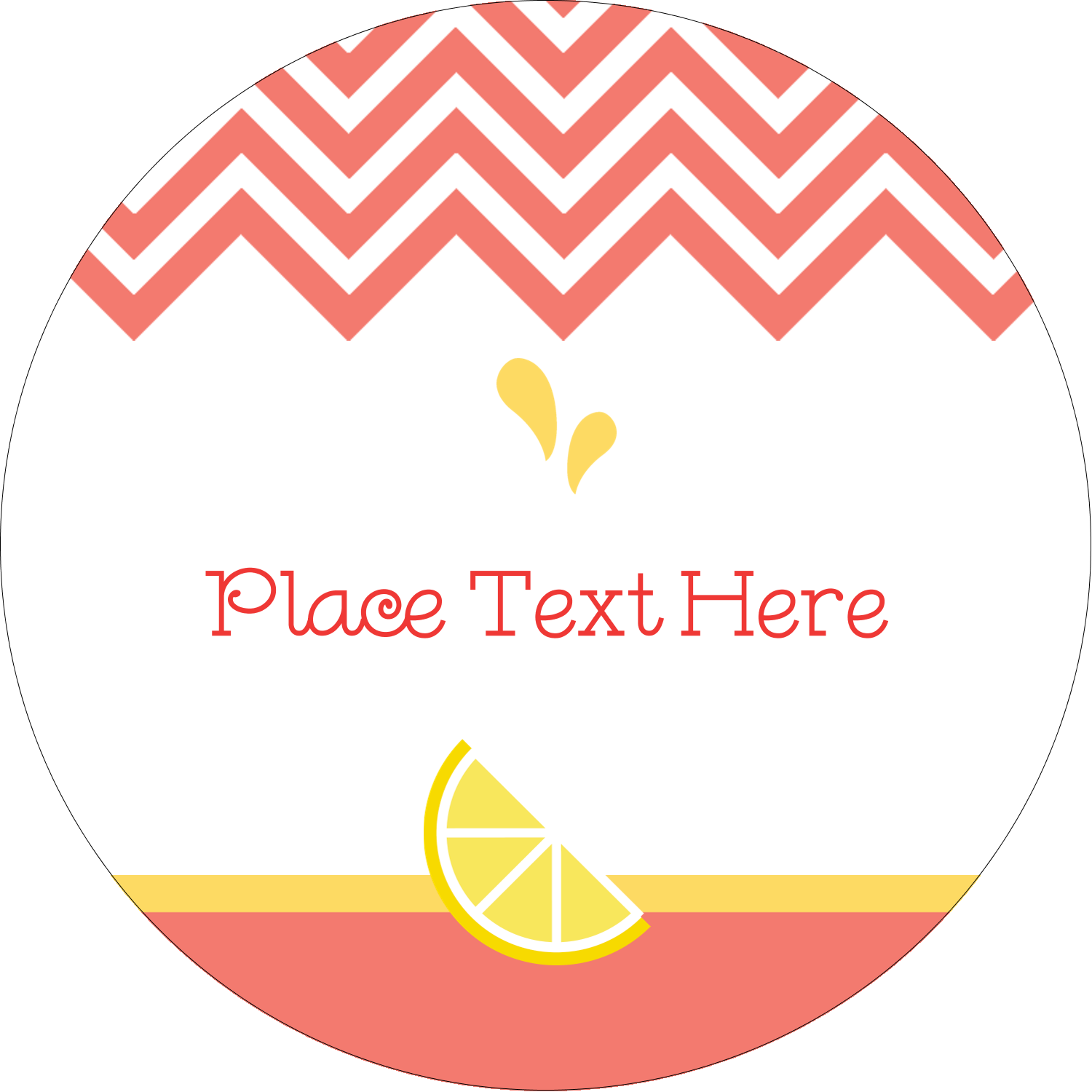 "2"" Embossed Round Label - Fruit Pink"