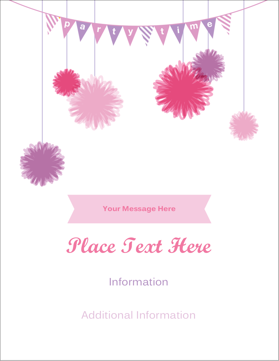 "4¼"" x 5½"" Postcard - Party Poms"