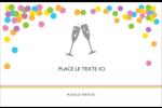 Nouvel An Cartes de souhaits pliées en deux - gabarit prédéfini. <br/>Utilisez notre logiciel Avery Design & Print Online pour personnaliser facilement la conception.
