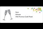 Nouvel An Étiquettes d'adresse - gabarit prédéfini. <br/>Utilisez notre logiciel Avery Design & Print Online pour personnaliser facilement la conception.