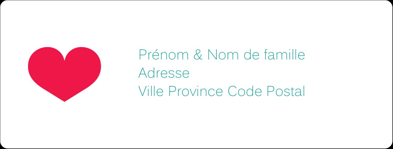 """1"""" x 4"""" Étiquettes d'adresse - Cœur de princesse"""