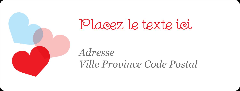 """1"""" x 4"""" Étiquettes d'adresse - Saint-Valentin"""