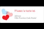Saint-Valentin Étiquettes d'adresse - gabarit prédéfini. <br/>Utilisez notre logiciel Avery Design & Print Online pour personnaliser facilement la conception.