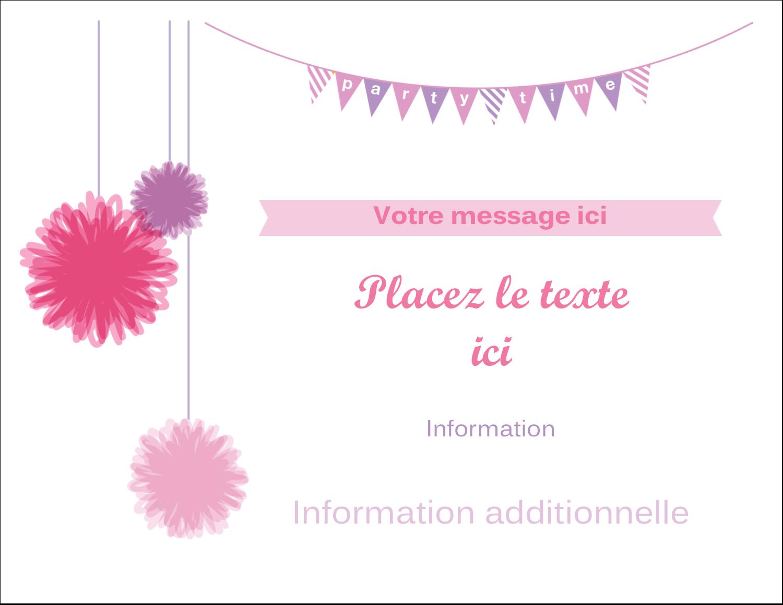 """8½"""" x 11"""" Cartes Et Articles D'Artisanat Imprimables - Pompons de fête"""