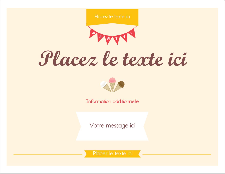 """8½"""" x 11"""" Cartes Et Articles D'Artisanat Imprimables - Crème glacée sucrée"""