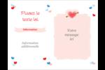 Saint-Valentin Cartes Et Articles D'Artisanat Imprimables - gabarit prédéfini. <br/>Utilisez notre logiciel Avery Design & Print Online pour personnaliser facilement la conception.
