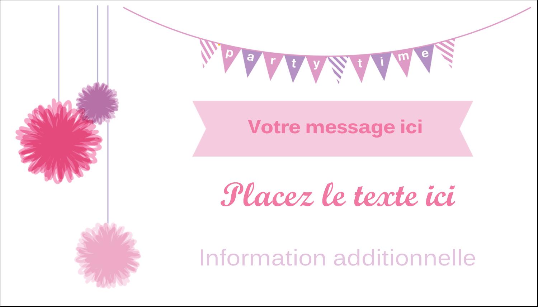 """2"""" x 3½"""" Carte d'affaire - Pompons de fête"""