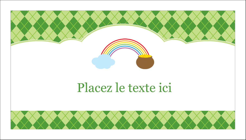 """2"""" x 3½"""" Carte d'affaire - Saint-Patrick"""