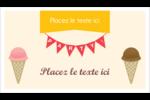 Crème glacée sucrée Carte d'affaire - gabarit prédéfini. <br/>Utilisez notre logiciel Avery Design & Print Online pour personnaliser facilement la conception.