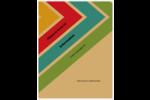Arc-en-ciel rétro Reliures - gabarit prédéfini. <br/>Utilisez notre logiciel Avery Design & Print Online pour personnaliser facilement la conception.