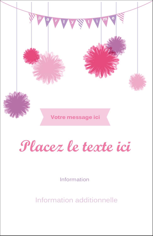 "8½"" x 11"" Binder Insert Reliures - Pompons de fête"