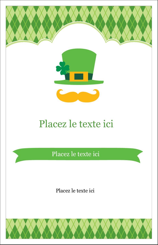 "8½"" x 11"" Binder Insert Reliures - Saint-Patrick"