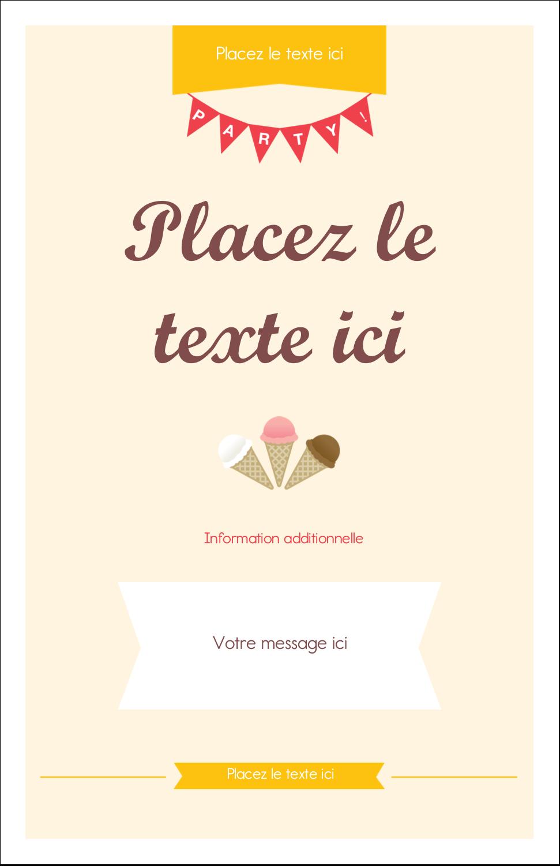 """8½"""" x 11"""" Binder Insert Reliures - Crème glacée sucrée"""