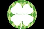 Saint-Patrick Étiquettes Voyantes - gabarit prédéfini. <br/>Utilisez notre logiciel Avery Design & Print Online pour personnaliser facilement la conception.