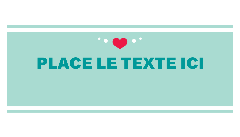 """3"""" x 5"""" Cartes Pour Le Bureau - Cœur de princesse"""