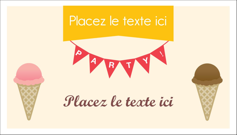 """3"""" x 5"""" Cartes Pour Le Bureau - Crème glacée sucrée"""