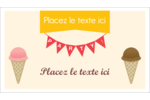 Crème glacée sucrée Cartes Pour Le Bureau - gabarit prédéfini. <br/>Utilisez notre logiciel Avery Design & Print Online pour personnaliser facilement la conception.