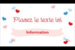 Saint-Valentin Cartes Pour Le Bureau - gabarit prédéfini. <br/>Utilisez notre logiciel Avery Design & Print Online pour personnaliser facilement la conception.