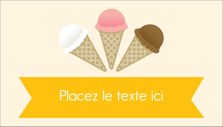 """2"""" x 3½"""" Carte d'affaire - Crème glacée sucrée"""