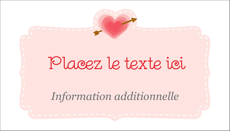 """2"""" x 3½"""" Carte d'affaire - Saint-Valentin"""