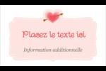 Saint-Valentin Carte d'affaire - gabarit prédéfini. <br/>Utilisez notre logiciel Avery Design & Print Online pour personnaliser facilement la conception.