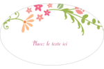 Floraison du printemps Étiquettes carrées - gabarit prédéfini. <br/>Utilisez notre logiciel Avery Design & Print Online pour personnaliser facilement la conception.