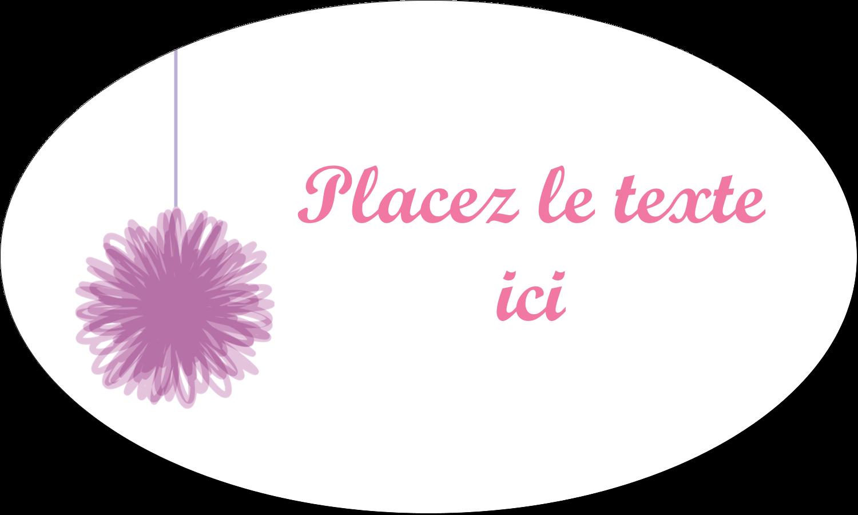 """1½"""" x 1½"""" Étiquettes carrées - Pompons de fête"""