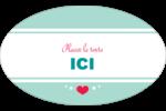 Cœur de princesse Étiquettes carrées - gabarit prédéfini. <br/>Utilisez notre logiciel Avery Design & Print Online pour personnaliser facilement la conception.