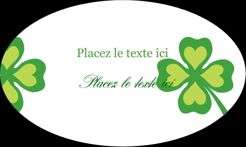 """1½"""" x 1½"""" Étiquettes carrées - Saint-Patrick"""