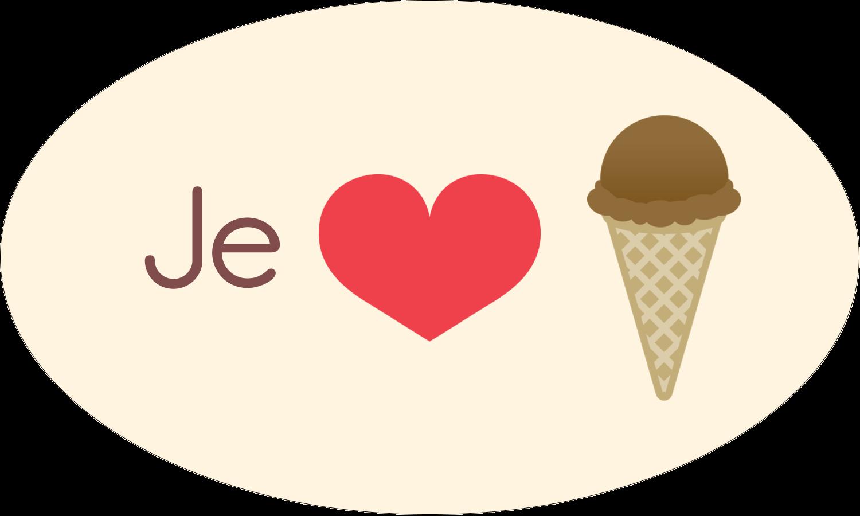 """1½"""" x 1½"""" Étiquettes carrées - Crème glacée sucrée"""