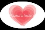 Saint-Valentin Étiquettes carrées - gabarit prédéfini. <br/>Utilisez notre logiciel Avery Design & Print Online pour personnaliser facilement la conception.