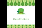 Saint-Patrick Étiquettes carrées - gabarit prédéfini. <br/>Utilisez notre logiciel Avery Design & Print Online pour personnaliser facilement la conception.