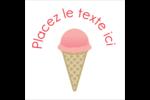 Crème glacée sucrée Étiquettes carrées - gabarit prédéfini. <br/>Utilisez notre logiciel Avery Design & Print Online pour personnaliser facilement la conception.