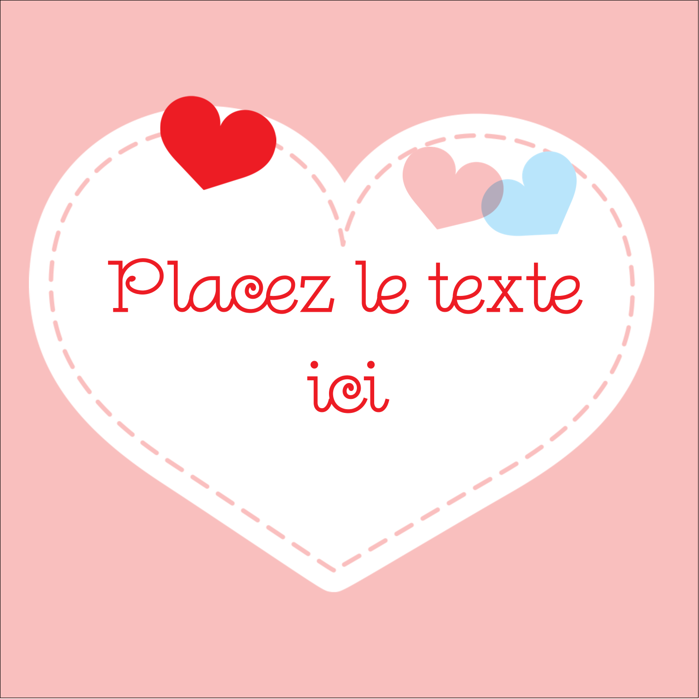 """2"""" x 2"""" Étiquettes carrées - Saint-Valentin"""