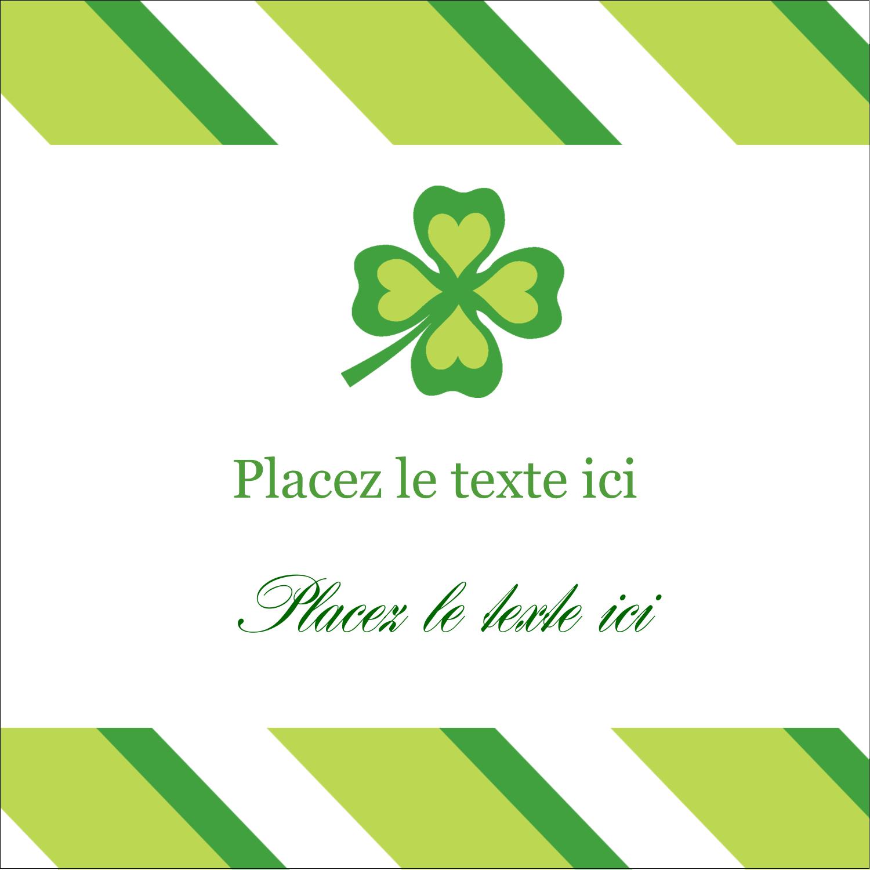 """2"""" Diameter Étiquettes rondes - Saint-Patrick"""