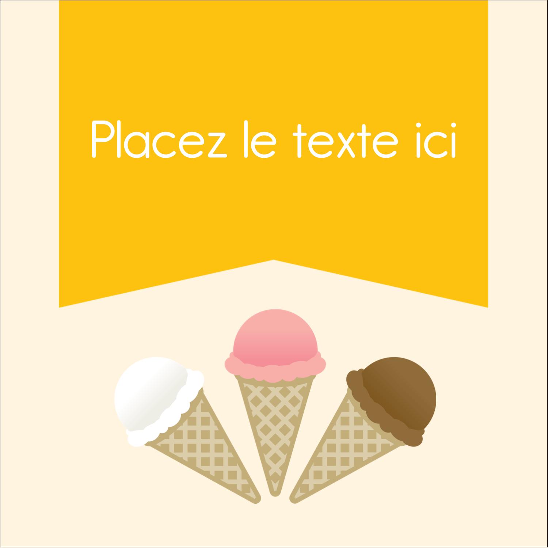 """2"""" Diameter Étiquettes rondes - Crème glacée sucrée"""