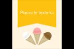 Crème glacée sucrée Étiquettes rondes - gabarit prédéfini. <br/>Utilisez notre logiciel Avery Design & Print Online pour personnaliser facilement la conception.