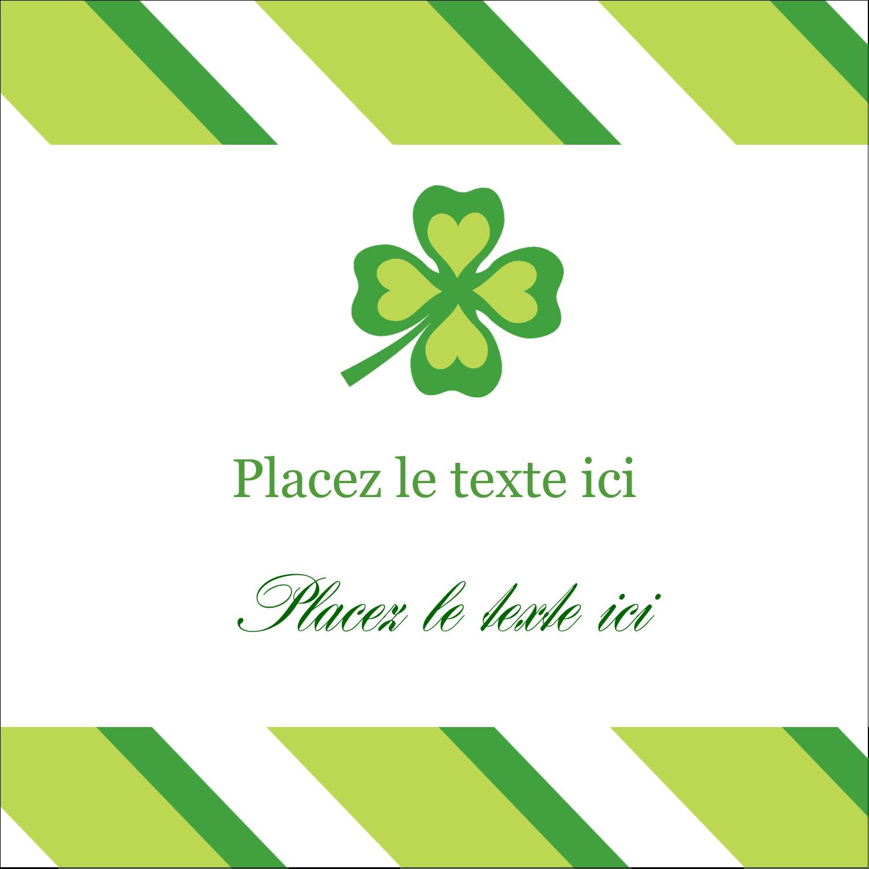 """9¾"""" x 1¼"""" Étiquettes enveloppantes - Saint-Patrick"""