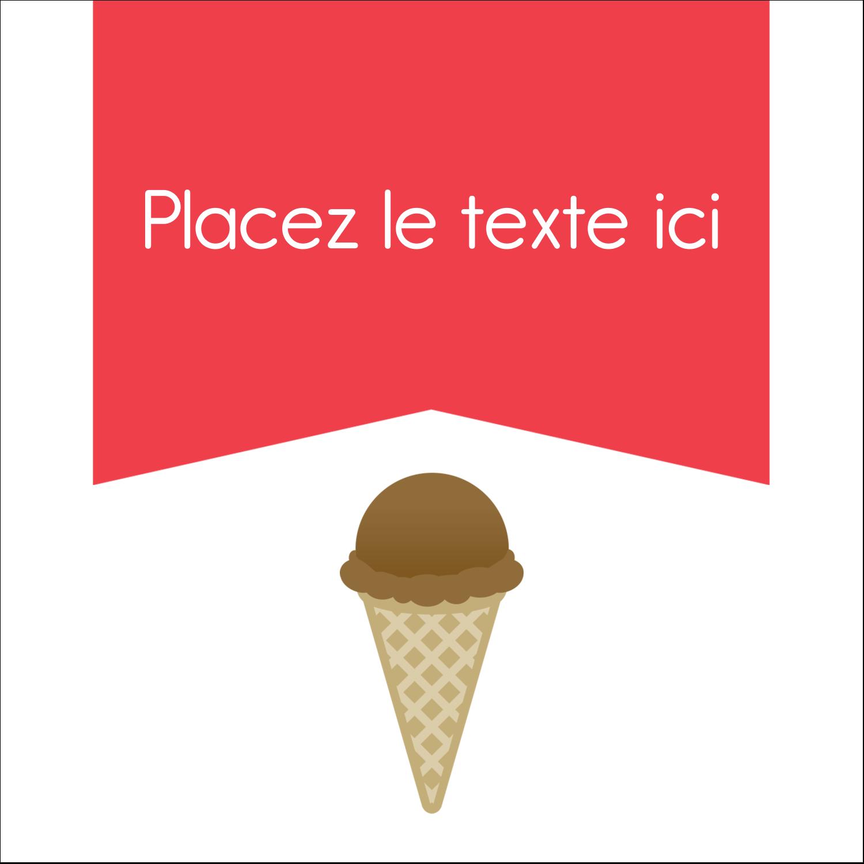 """9¾"""" x 1¼"""" Étiquettes enveloppantes - Crème glacée sucrée"""