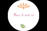 Floraison du printemps Étiquettes rondes - gabarit prédéfini. <br/>Utilisez notre logiciel Avery Design & Print Online pour personnaliser facilement la conception.