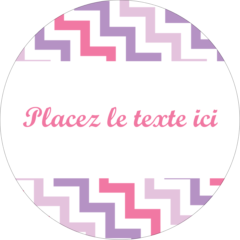 """2½"""" Diameter Étiquettes rondes - Pompons de fête"""