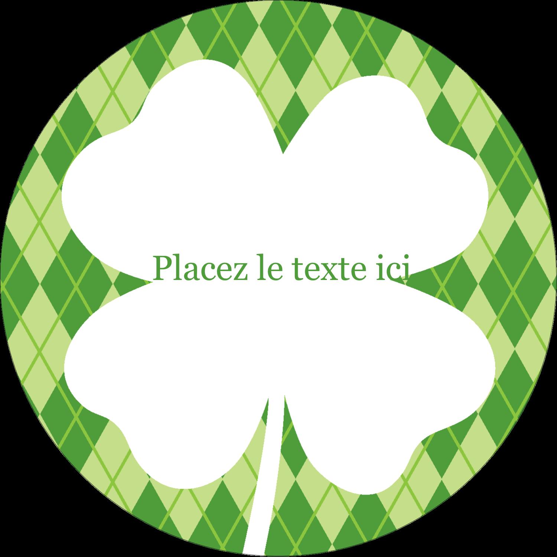 """2½"""" Diameter Étiquettes rondes - Saint-Patrick"""