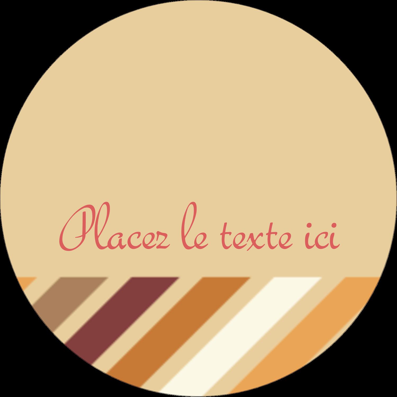 """2½"""" Diameter Étiquettes rondes - Plumes d'Action de grâces"""